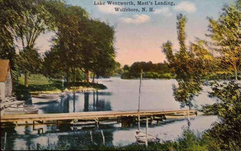 Wolfeboro, New Hampshire, USA - Lake Wentworth, Mast's Landing, Wolfeboro, N.H.