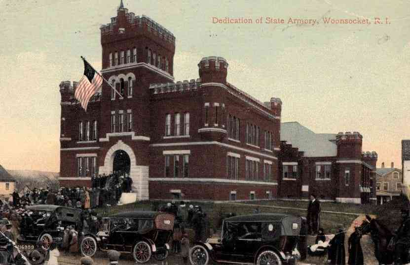 Woonsocket, Providence, Rhode Island, USA - Dedication of State Armory, Woonsocket, R. I.