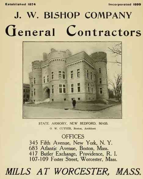Worcester, Massachusetts, USA - J. W. Bishop Company General Contractors