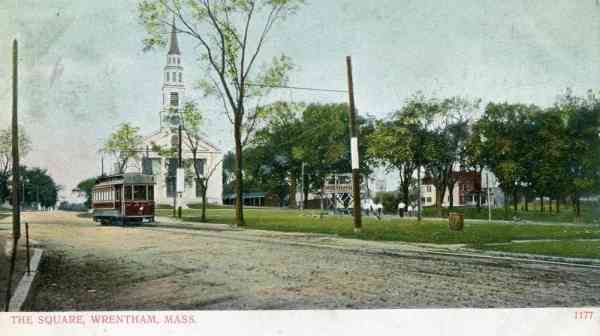 Wrentham, Massachusetts, USA - The Square (1906)