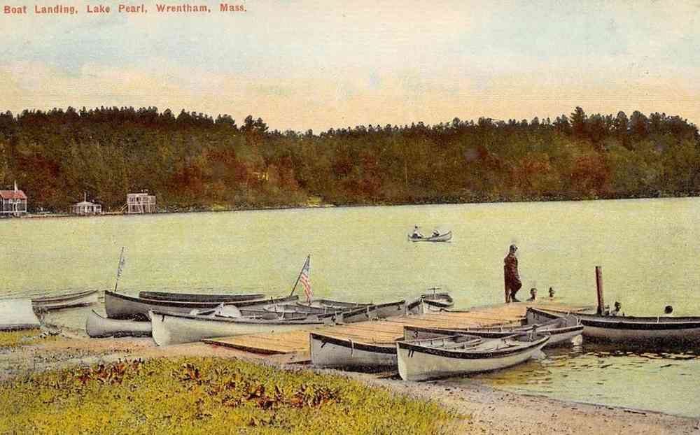 Wrentham, Massachusetts, USA - Boat Landing, Lake Pearl, Wrentham, Mass.