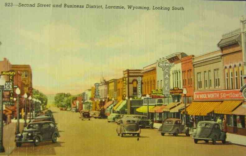 Laramie, Wyoming, USA - Second Street and Business District