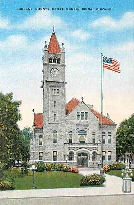 Xenia, Ohio, USA - Greene County Court House