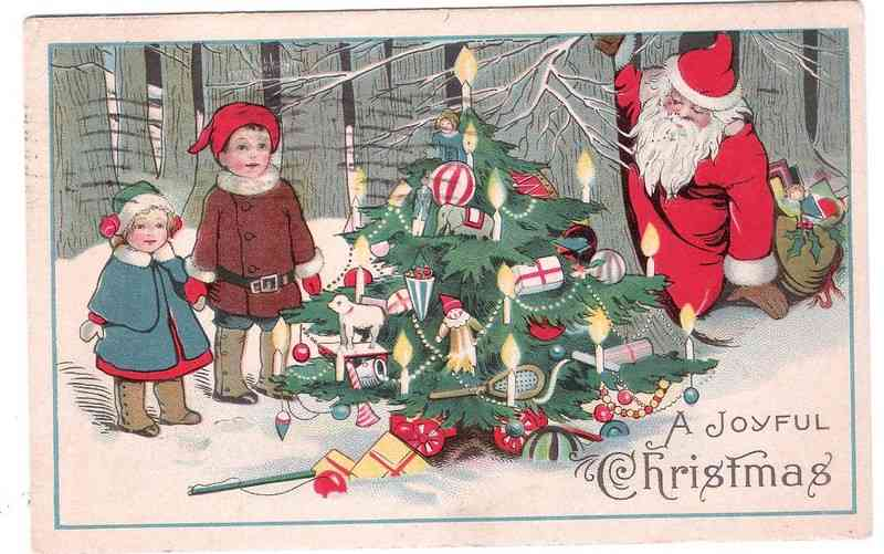 Charlotte Marie Salisbury - 1924 Christmas card sent to her granddaughter, Evelyn Feige
